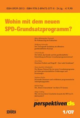 Wohin mit dem neuen SPD-Grundsatzprogramm?